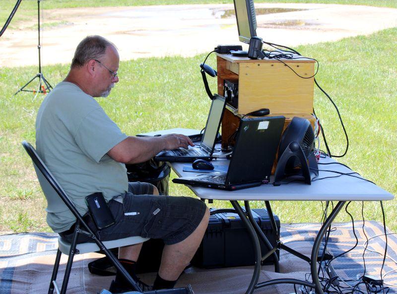 Chris at his station
