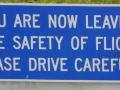 Sign leaaving the Aerodrome